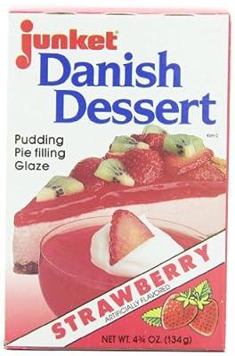Junket Danish Dessert Strawberry, 4.75-Ounce Boxes (Pack of 12)