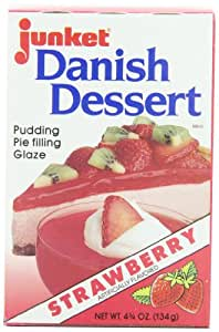Junket Danish Dessert Strawberry, 4.75-Ounce Boxes (Pack of 12)