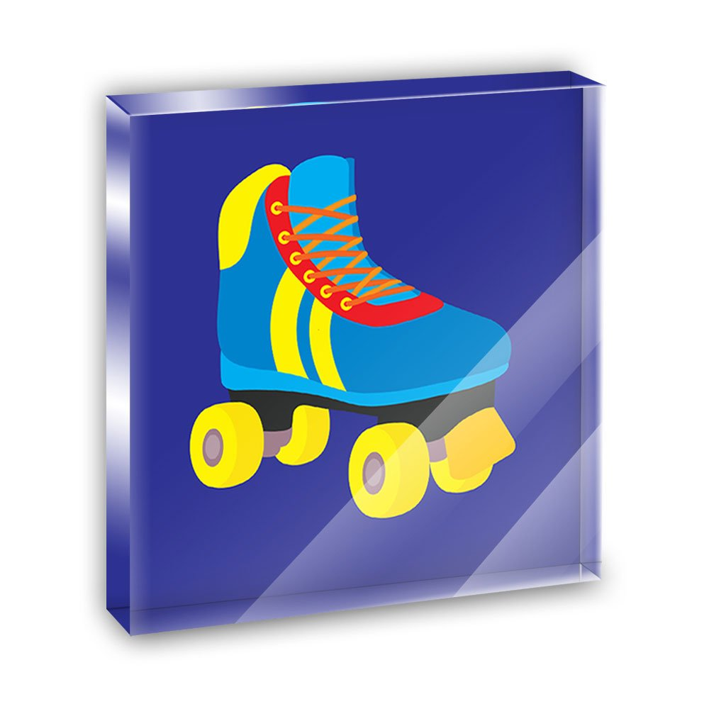 Roller Skate Skating Acrylic Office Mini Desk Plaque Ornament Paperweight