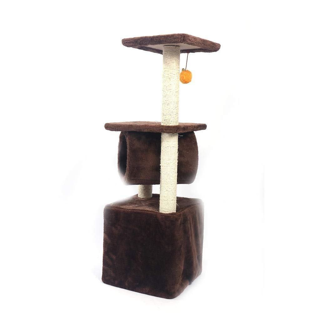 TOUYOUIOPNG Deluxe Multi Level Cat Tree Cat climbing Frame Cat Tree Litter Activity Center for Sleeping Games 11.8cm 11.8cm  35.83cm