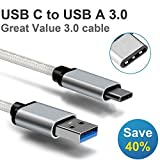 Motoraux USB-C 3.1 to USB 3.0 Cable for USB Type-C Devices Including the MacBook, ChromeBook Pixel, Nexus 5X, Nexus 6P, Nokia N1 Tablet, OnePlus 2 and More