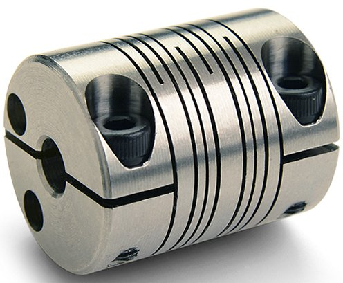 Clamp Type 0.500 Bore X 0.500 Bore Ruland Manufacturing Co Inc PCR20-8-8-SS PCR20-8-8-SS Beam Coupling