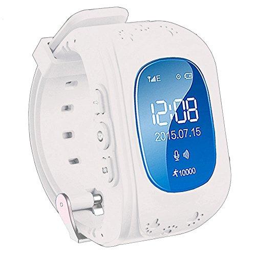 TURNMEON Smartwatch für Kinder mit GPS WIFI Anti-lost Tracker Smart watch Handy mit SIM SOS Armband für IOS Android iPhone Samsung Smartphone (Weiß)