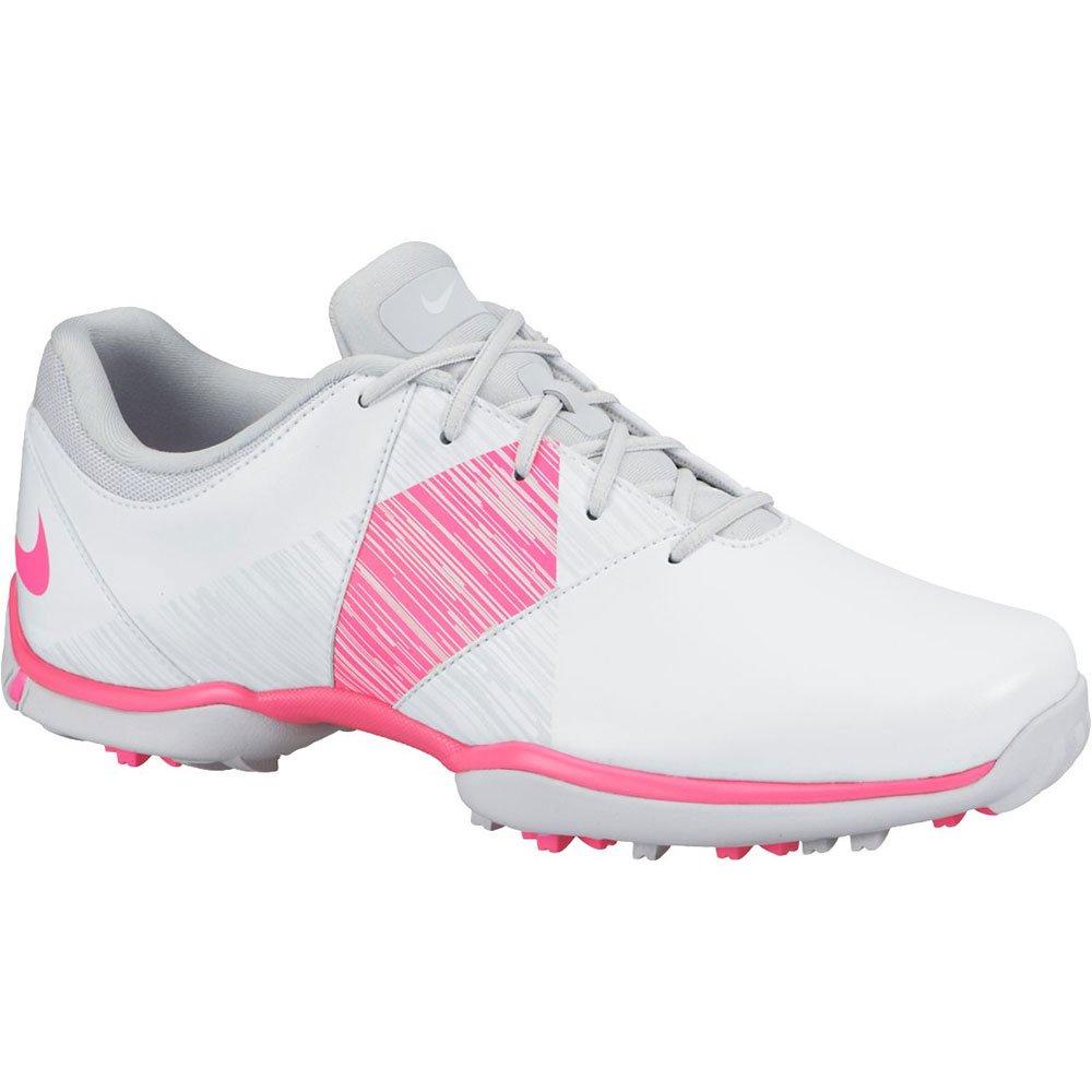 Nike Women's Delight V Golf Shoes (Medium) (9.5 M US, White/Hyper Pink/Pure Platinum)