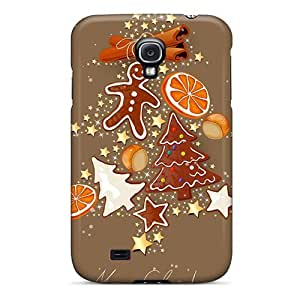Rewens UNH547iwto Protective Case For Galaxy S4(merry Christmas Sweets Tree)