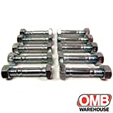 6 Pack, Shear Pins & Nuts for MTD 710-0890, 910-0890A and 712-0158 (nut).