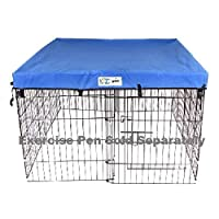 4 'x 4' GoGo Pet Products Ejercicio Pen UV Top /Cover Azul real