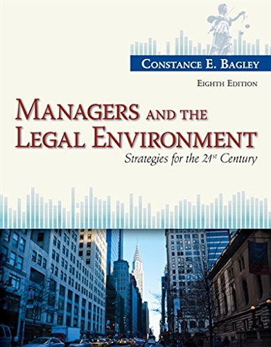 Managers and the Legal Environment: Strategies for the 21st Century cover