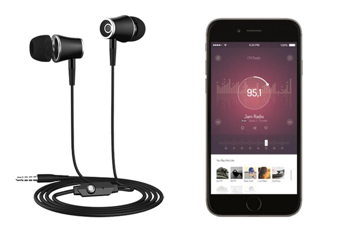Earphone for Kindle eReaders, Fire HD 8 HD 10, Kindle Paperwhite Voyage Oasis Earbuds, In Ear Headset Smart Android Cell Phones Mp3 Mp4 Wired Earbuds
