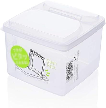 XFGOLD-recipientes para cereales Refrigerador De Alimentos Caja De Plástico Rectangular De Alimentos Caja De Alimentos Cereal De Frutas Vegetales Merienda Caja De Almacenamiento Contenedor Contenedor: Amazon.es: Hogar