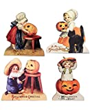 Little Halloween Children Wood Dummy Boards Set of 4 Bethany Lowe New