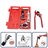 Tubing Bender Sunsbell Pex Crimper Cutter Removal Tools Crimping Bending Tool Pliers, Splint, Cutting Knife with 7 Adapters (Tubing Bender Included)