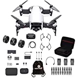 DJI Mavic Air Fly More Combo Travel Bundle Arctic White with lens filter 3 piece set and Professional Case and more.(White)