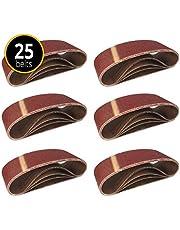 25 Stuks ❉ weefsel-schuurbanden voor bandschuurmachines │ 100 x 560 mm │ elk 5x korrel 40/60/80/120/180