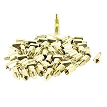 50 Pcs PC PCB Motherboard Brass Standoff Hexagonal Spacer M3 7+4mm