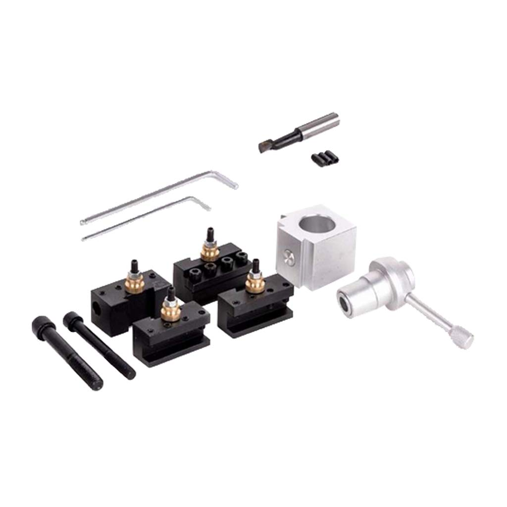 Homyl Quick Change Tool Post and Holder Kit Set Aluminum for Table Lathes by Homyl (Image #10)