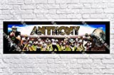 Personalized New Orleans Saints Banner - Includes Color Border Mat, With Your Name On It, Party Door Poster, Room Art Decoration - Customize