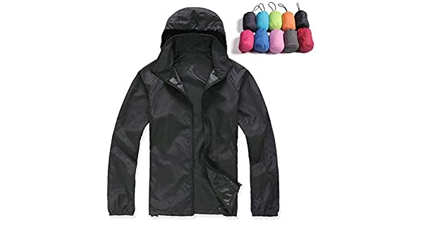 Amazon.com: YouzhiWan007 Lovers Sun Protection Skin Summer Jacket Women Men New Spring Fashion Female Coats Womens Foldable Hooded Jackets,AM034 Army Green ...