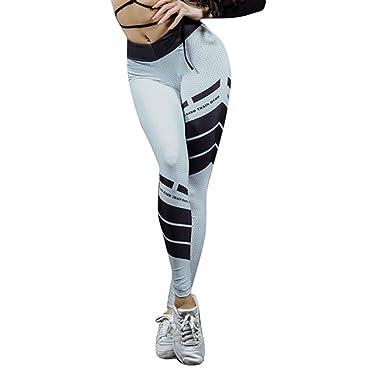 Damen Sporthose Leggings Laufhose Fitnesshose Stretchhose Gym Yoga Jogginghose