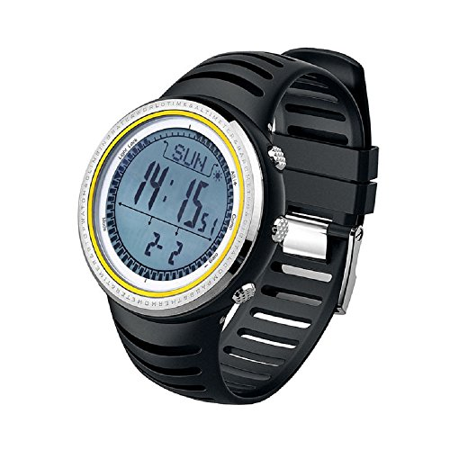 SunRoadFR802A Digital Watch Men Sports Watch 5ATM Waterproof Altimeter Compass Fishing Barometer Pedometer Multifunction by SunRoad
