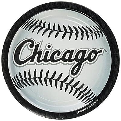 "Amscan Chicago White Sox 9"" Round Dinner Plates"