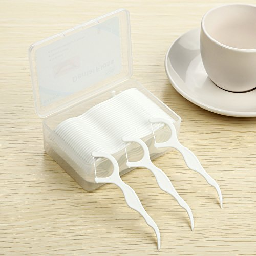 Dental Floss,DARIDO Dental Floss Picks 4 Packs with Travel Handy Case, 200 Counts Dental Floss Picks by DARIDO (Image #5)