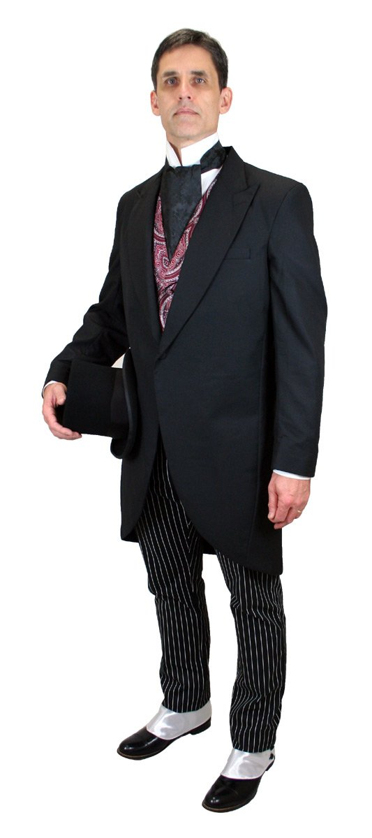 Historical Emporium Men's Traditional Tuxedo Cutaway Coat 54L Black