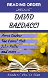 Reading order and checklist: David Baldacci - Series read order: Amos Decker, The Camel Club, Freddy and the French Fries, John Puller and all other series!