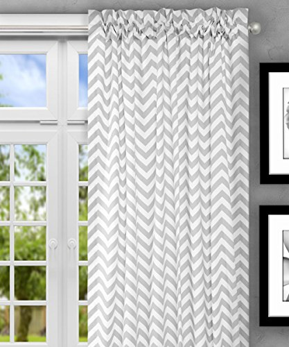 Ellis Curtain Reston Chevron Stripe Tailored Panel Curtain, 50