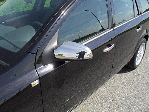 Opel Astra H Chrom Spiegel Kappen EDELSTAHL