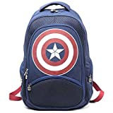 Marvel Comics Captain America: Unisex Shield Backpack | One Size | Blue/Red