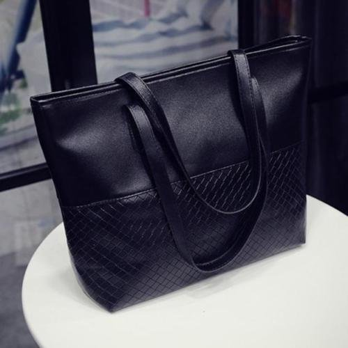 XENO-HOT Women Handbag Shoulder Reversible Tote Satchel Messenger Bag Hobe Purse(black)
