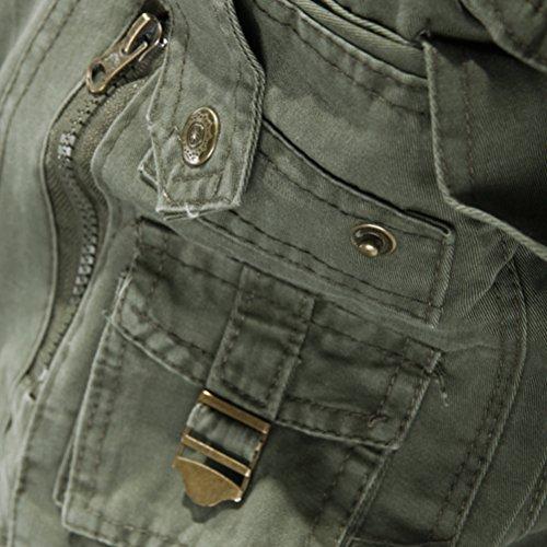 Loisir Cargo Pantalon 11 Multi Poches Couleurs Ceinture Marron Homme Garçon Coton Travail De Tailles Sport Vintage 6 Sans Militaire Lanbaosi Pour q8aPPxX
