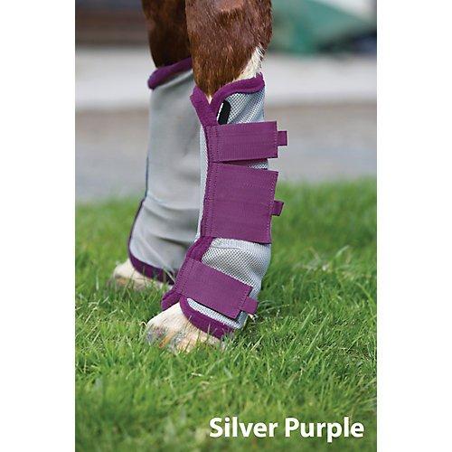 (AMIGO Fly Boots Horse Silver/Purple)