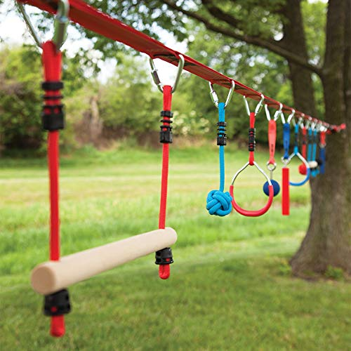 B4 Adventure Slackers NinjaLine 36 Ft. Pro & Intro Combo Kit with 10 Obstacles Active Play for Ages 5 to 11 by B4 Adventure