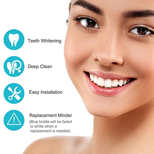 Replacement Brush Heads for Oral B, 16 Pcs Toothbrush Replacement Heads Compatible with Oral B Pro1000 Pro3000 Pro5000 Pro7000, includes 4 Floss, 4 Cross, 4 Precision & 4 Whitening Brush Heads