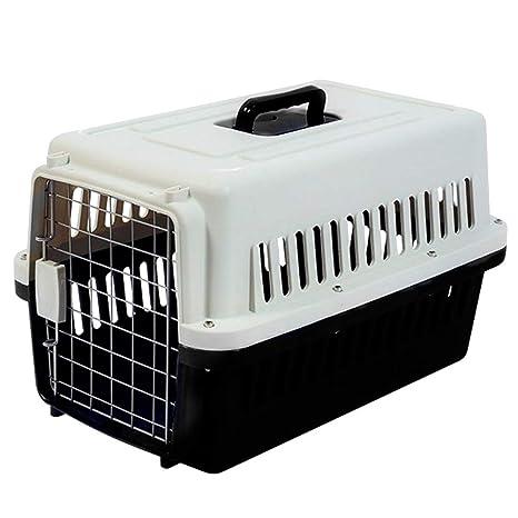 Deylaying Plástico Transportin para Perros Gatos Conejo, Jaula de ...