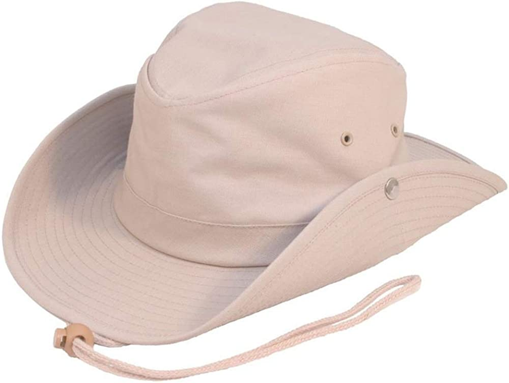 100/% Cotton Safari Outback Bush Hat Wide Brim Hat Perfect for Summer