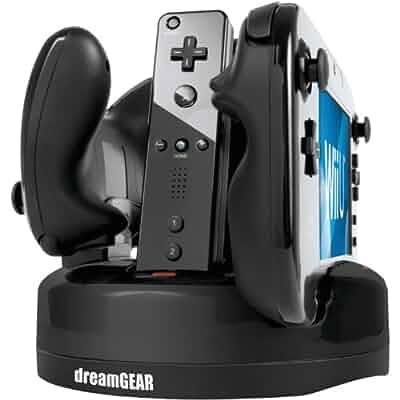 Amazon Com Dreamgear Nintendo Wii U Quad Dock Revolution