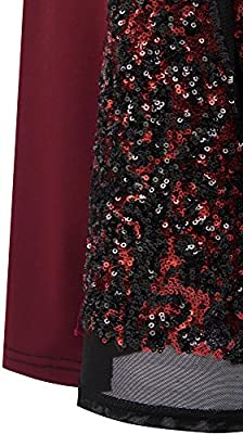 Angel fashions Women's Sheer Sequins Sheath Mermaid Hollow Out Prom Dress