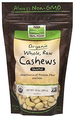 Certified Organic Cashews, Certified Non-GMO, 10-Ounce
