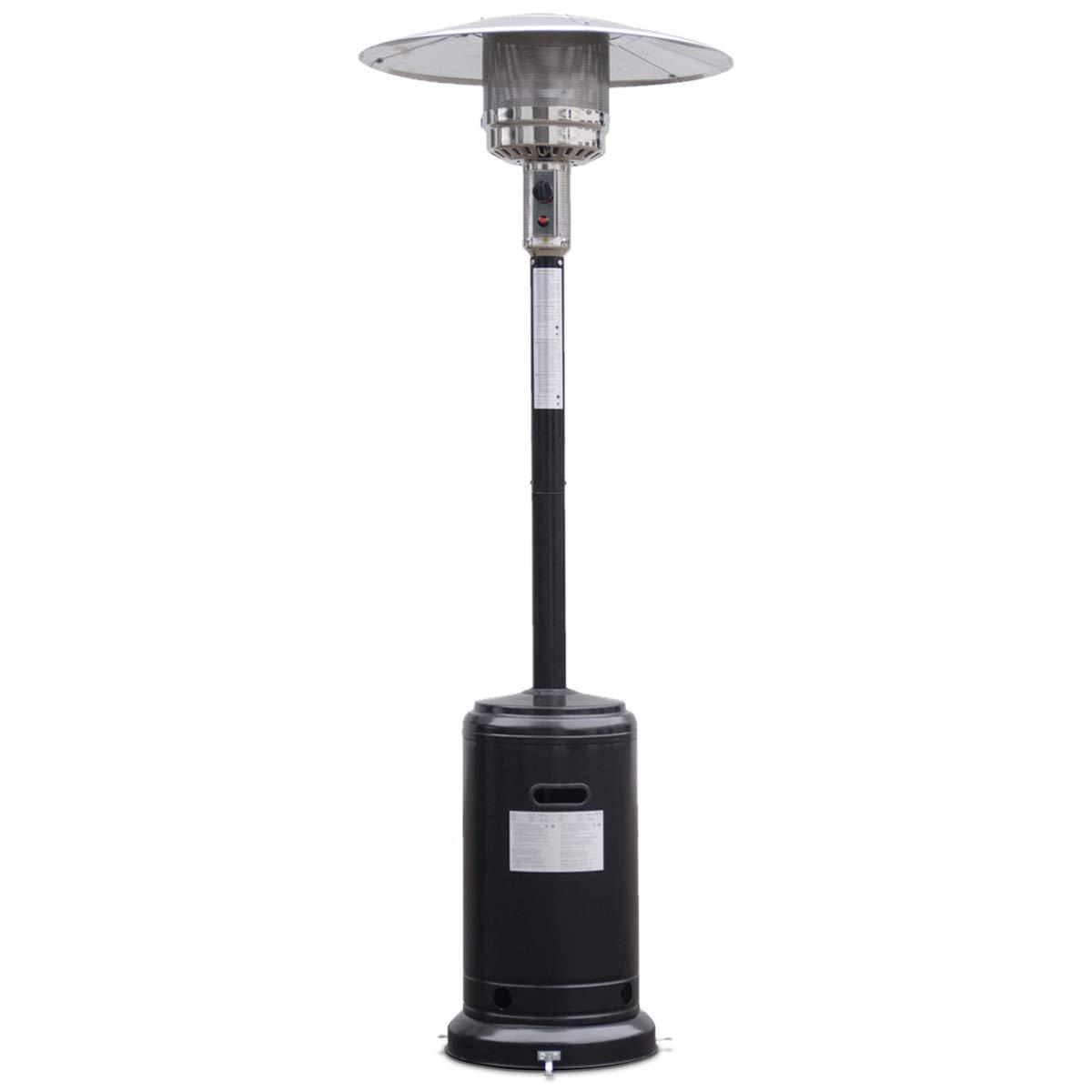 Giantex Steel Outdoor Patio Heater Propane Lp Gas W/accessories (Black) by Giantex