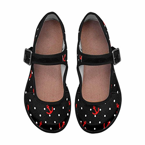 7 Mary Flats Comfort InterestPrint Jane Shoes Walking Womens Casual Multi ZUSSgvn