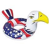 Inflatable American Bald Eagle Pool Inflatable – Premium Patriotic Inner Tube Rafts Pool Floats & Pool Toys