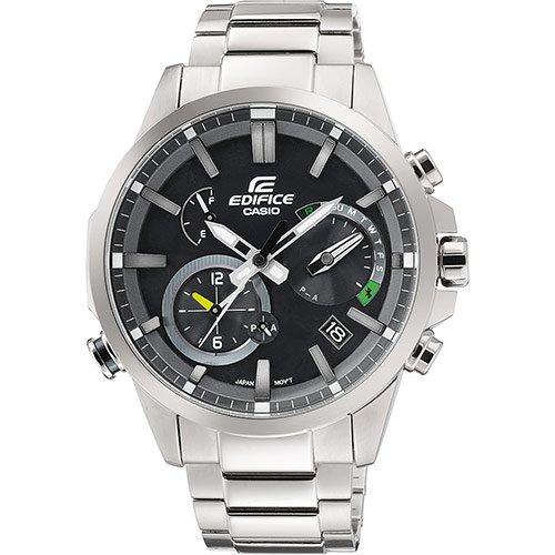 Casio Reloj Cronógrafo para Hombre de Energía Solar con Correa en Acero Inoxidable EQB-700D-1AER: Amazon.es: Relojes