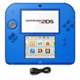 Nintendo 2DS 2 Items Bundle:Nintendo 2DS-Electric Blue 2 w/Mario Kart 7 Console and USB Sync Charge USB Cable