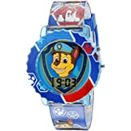 Paw Patrol Kids' Digital Watch with Blue Case, Comfortable Blue Strap, Easy to Buckle - Official...
