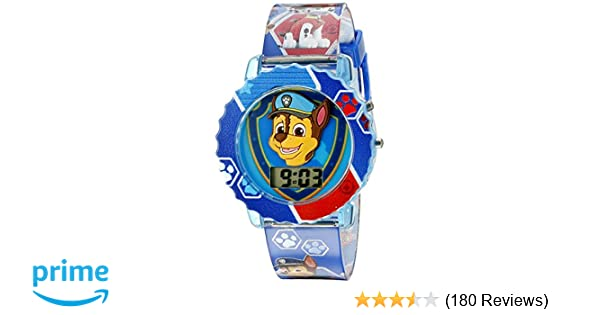 Amazon.com: Paw Patrol Kids Digital Watch with Blue Case, Comfortable Blue Strap, Easy to Buckle - Official 3D Paw Patrol Character on the Dial, ...