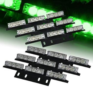 DIYAH 54 LED High Intensity LED Light Bar Law Enforcement Emergency Hazard Warning Strobe Lights For Interior Dash Windshield Red and BLue