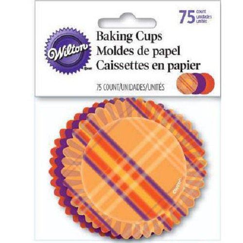 Plaid, Orange and Purple Halloween Cupcake Liners